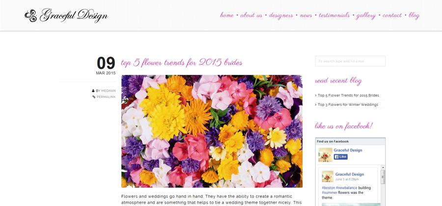 Graceful Design Blog Page