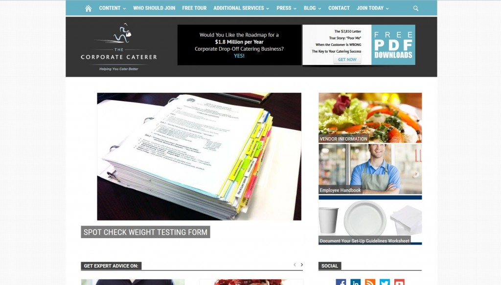 The Corporate Caterer Member site
