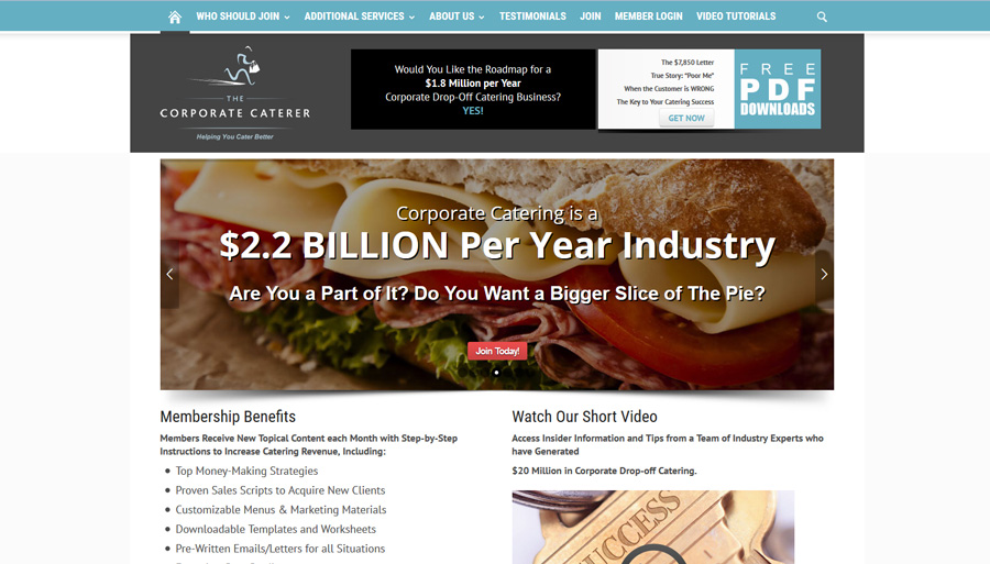 The Corporate Caterer public site