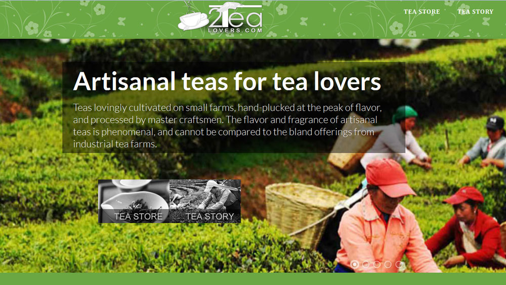 2tealovers.com - An eCommerce Magento Website