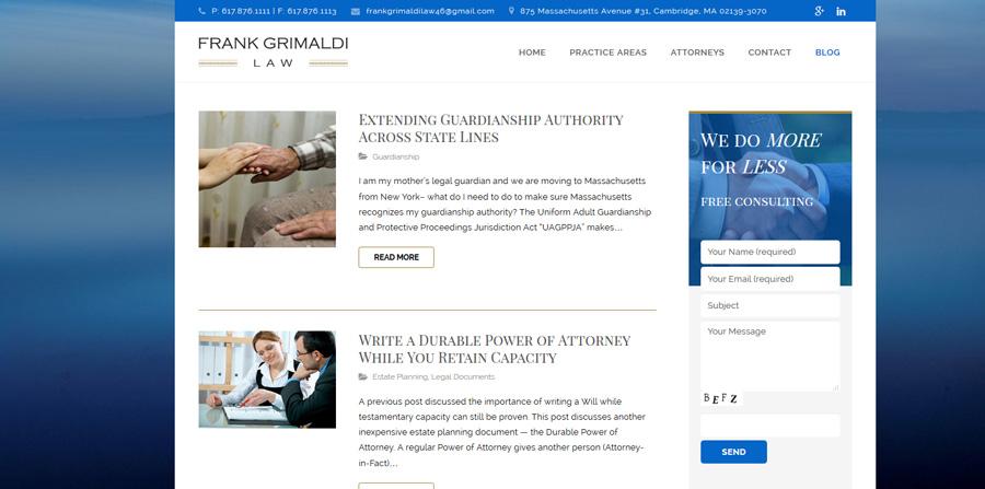 frankgrimaldilaw.com - Attorney's website