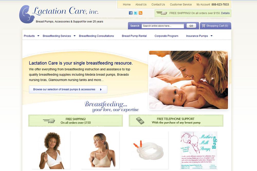 lactationcare.com - An eCommerce Magento Website