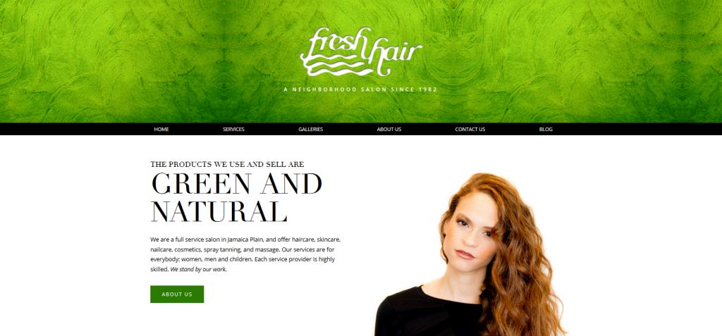 Fresh Hair New WordPress site
