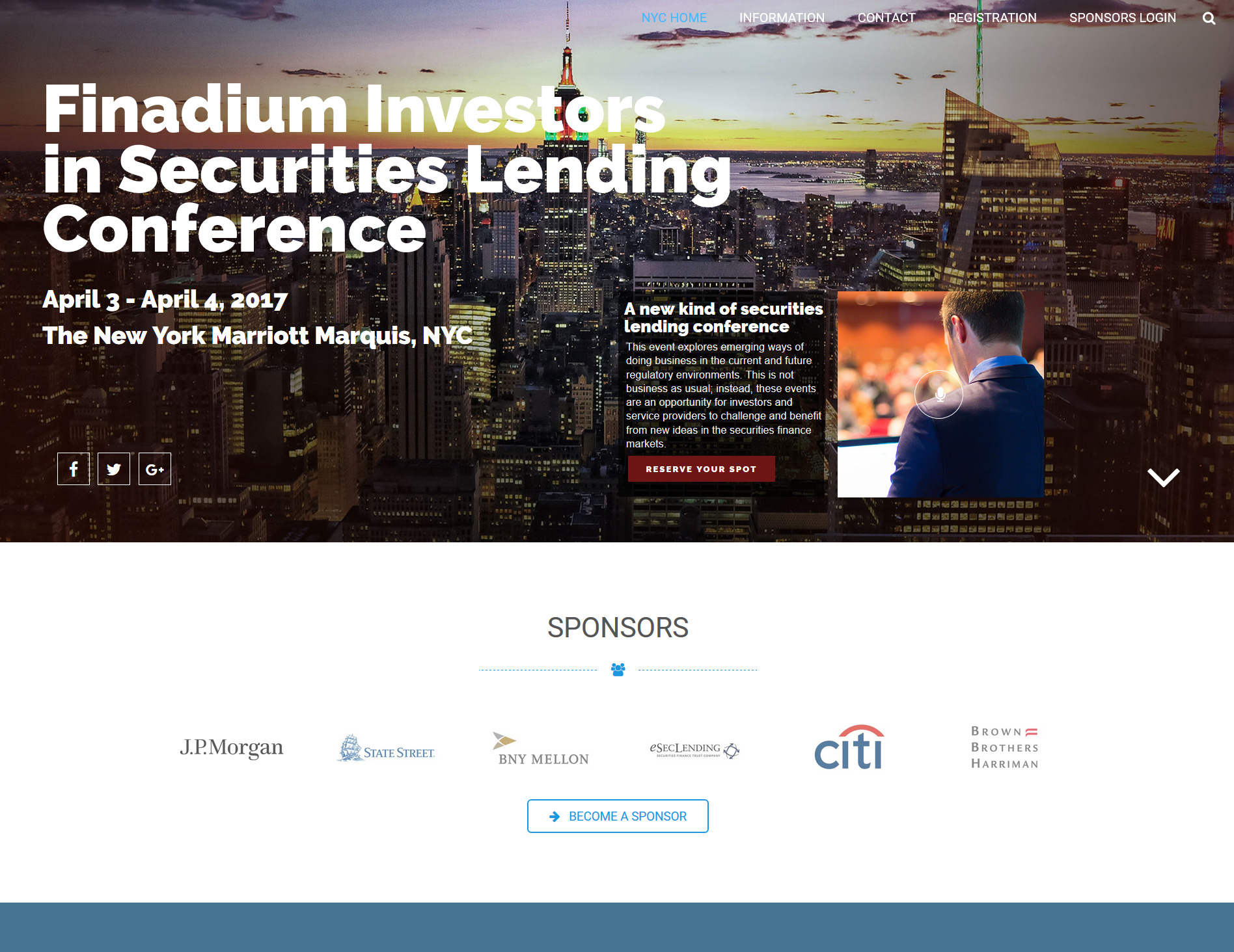 Finadium Investors in Securities Lending Conference