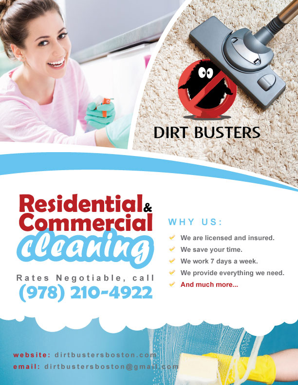 Residential & Commercial Cleaning flyer