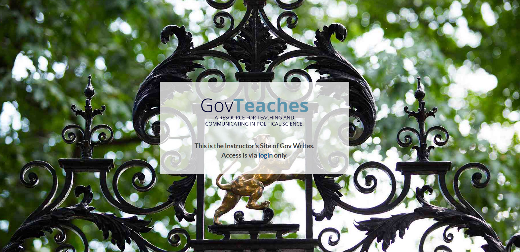 Govteaches - Instructor's Site for Harvard - Convert a Joomla system to WordPress