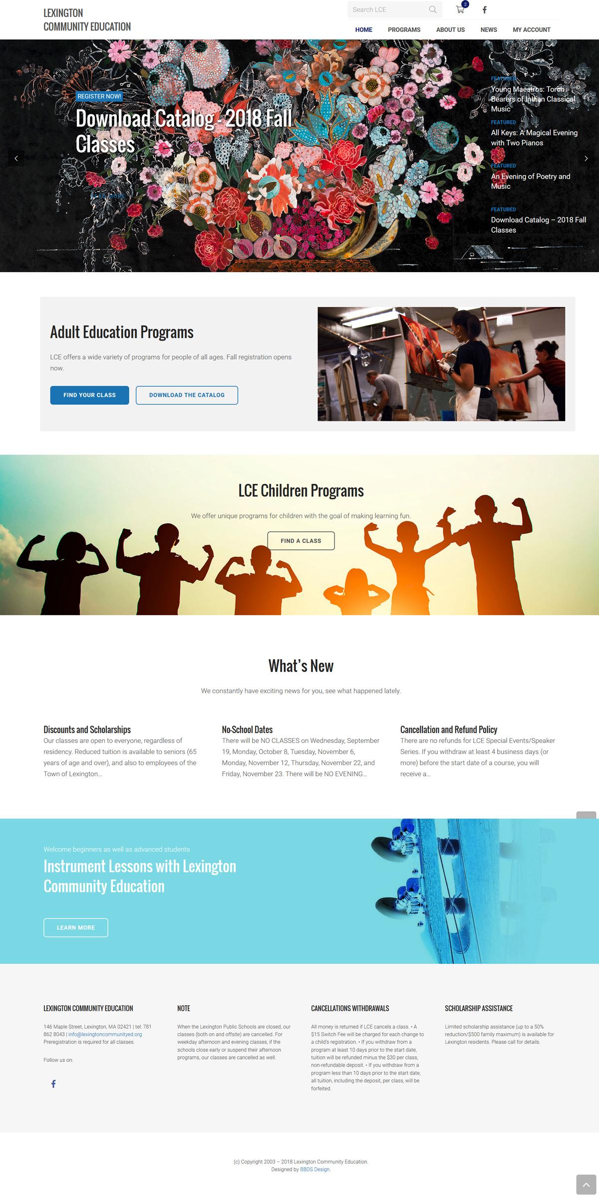 Lexington Community Education new website