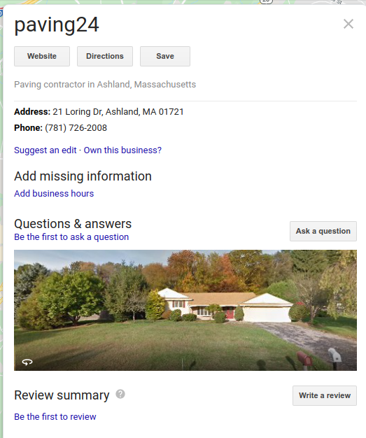 Google Maps unclaimed business listing when not logged in
