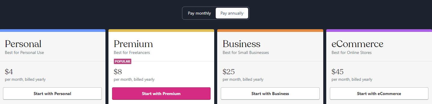 wordpress.com hosting fee