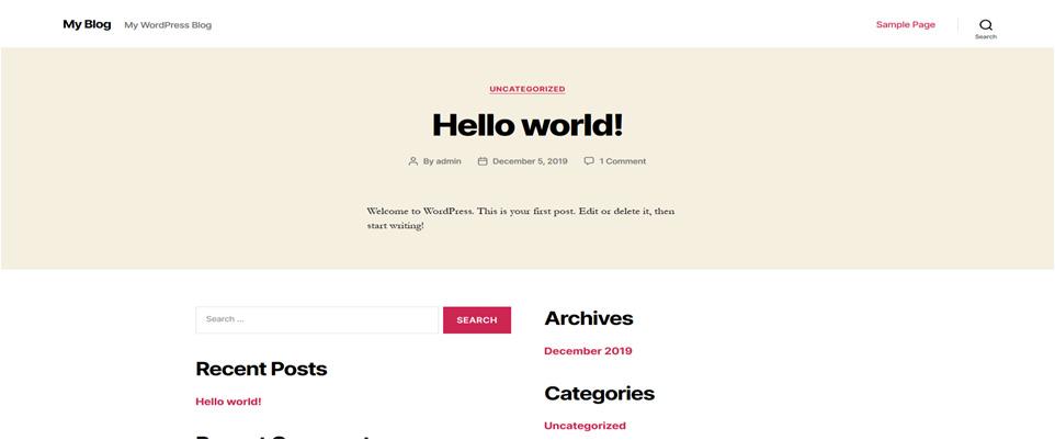 Initial website